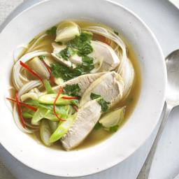 Asian Hot and Sour Turkey Soup