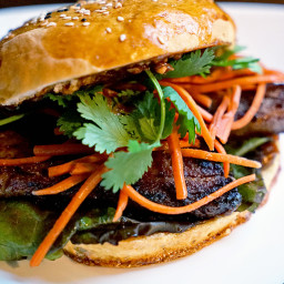 Asian Infused Pork Belly Sandwiches