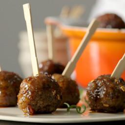 Asian Maple Sausage Meatballs