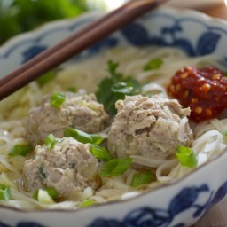 asian meatball noodle soup
