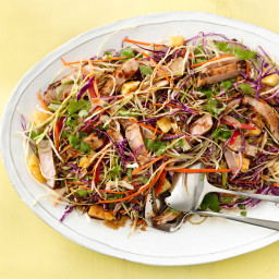 Asian Rainbow Salad with Seared Pork