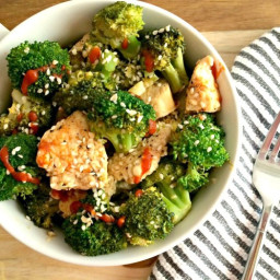 Asian Sesame Chicken and Broccoli