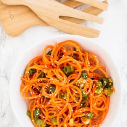 Asian Sesame Spiralized Carrots