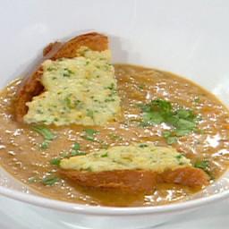 Asian Shrimp Bisque with Shrimp Toast