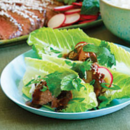 Asian-Style Beef Barbecue in Lettuce Packages
