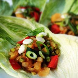 Asian Veggie Lettuce Cups