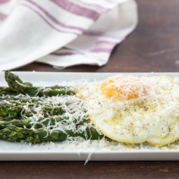 Asparagus alla Milanese (Poached Asparagus With Fried Egg and Parmesan Chee