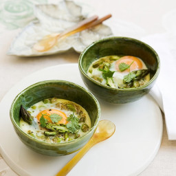 Asparagus, anchovy and eggs en cocotte