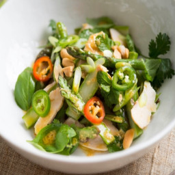 Asparagus and Chicken Salad With Ginger Dressing