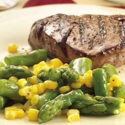Asparagus and Corn with Honey-Mustard Glaze