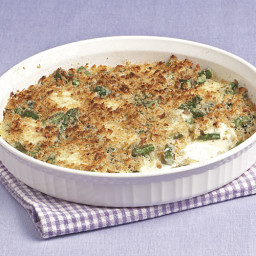 Asparagus and Mascarpone Gratin with Parmesan Breadcrumbs