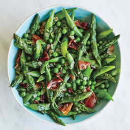 Asparagus and Peas with Warm Tarragon Vinaigrette