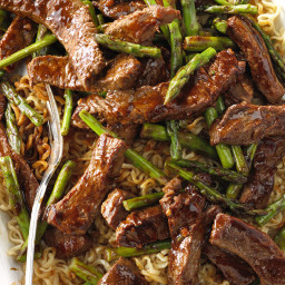 Asparagus Beef Lo Mein