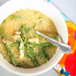 Asparagus Crab Egg Drop Soup Recipe