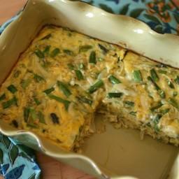 Asparagus, Dill + Onion Egg Casserole