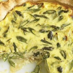 Asparagus, Leek, and Gruyere Quiche