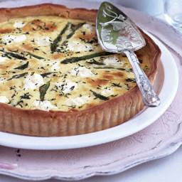 Asparagus, lemon and ricotta tart