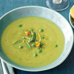 Asparagus Soup with Parmesan Shortbread Coins