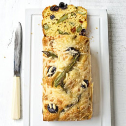 Asparagus, sundried tomato and olive loaf