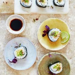 Asparagus sushi