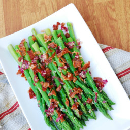Asparagus with Bacon and Red Onion Vinaigrette