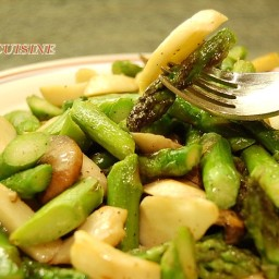 Asparagus with King Oyster Mushroom