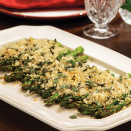 Asparagus with Sage Bread Crumbs