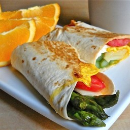 asparagus breakfast wraps