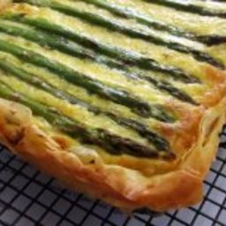 Asparagus, Potato and Cheese Quiche or Tart