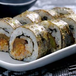 Aubergine Teriyaki Sushi