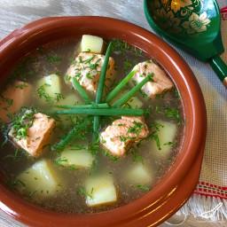 Authentic Ukha Fish Soup (Уха)