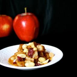 Autumn Apple Sauté with Caramel and Nuts
