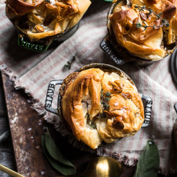 Autumn Chicken and Phyllo Dough Pot Pies