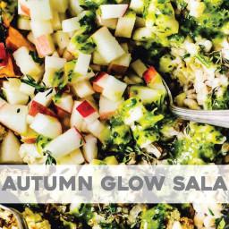 Autumn Glow Salad with Lemon Dressing
