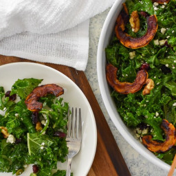 Autumn Kale Salad with Orange Maple Vinaigrette