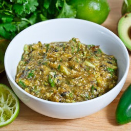 Avocado and Roasted Tomatillo Salsa