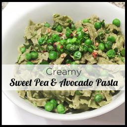 Avocado and Sweet Pea Pasta