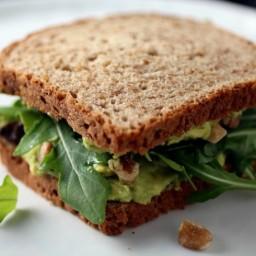 Avocado, Arugula, and Walnut Sandwiches