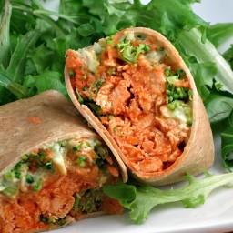 Avocado Buffalo Chicken Wraps