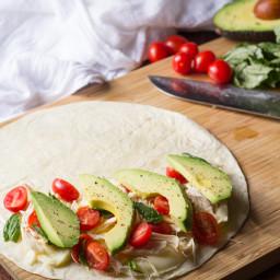 Avocado Caprese Chicken Quesadilla Recipe