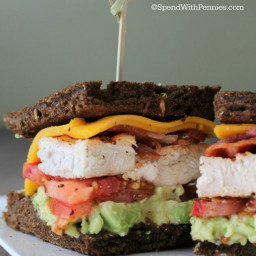 Avocado Chicken Club Sandwich