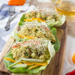 Avocado Chickpea Lettuce Wraps - Vegan + Gluten-Free