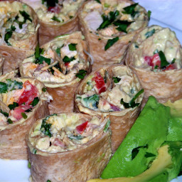 Avocado Cream and Chicken Rollup Appetizers