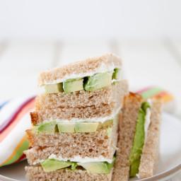 Avocado Cream Cheese Sandwich