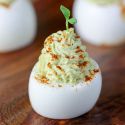 Avocado Devilled Eggs