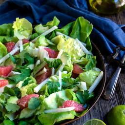 Avocado grapefruit jicama salad