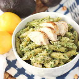 Avocado Pesto Chicken Pasta