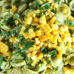 Avocado-Pesto Pasta Salad with Fresh Corn