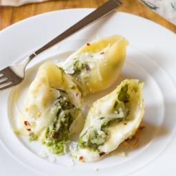 Avocado Pesto Stuffed Shells