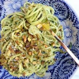 Avocado Pistachio Pesto with Zoodles
